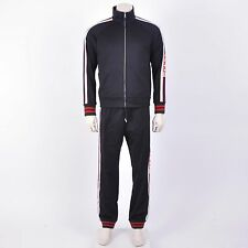 GUCCI $1100 Black Technical Jersey Track Jacket