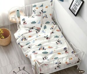[50%OFF!!!] 100% Cotton Printed  Baby Cot Sheet Set