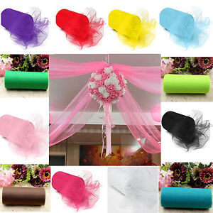 "6""x 25YD Tulle Roll Spool Tutu Wedding Party Gift Wrap Fabric Craft Decorations"