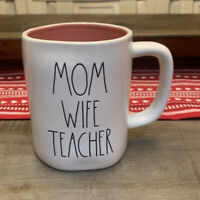Rae Dunn By Magenta - LL MOM WIFE TEACHER W Pink Interior Coffee Mug
