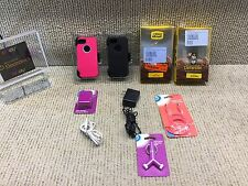 HIS & HERS Otter Box Defender iPhone 5 & 5S Case W/Belt Clip/Holster~PINK & BLK