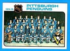 1975-76 Topps PITTSBURGH PENGUINS Team Card (vg-ex)
