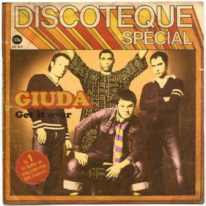 "GIUDA ""GET IT OVER"" 7"" 45rpm 2010 1st PRESS, NEW! PUNK-GLAM-OI!-STREETPUNK"