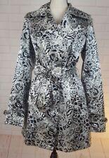 Regent And Company Women Trench Coat Rain Jacket Sz S Animal Print Lined Pockets