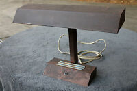 Vintage Old Industrial Metal Desk Table Lamp Steam Neon Empire Stark Style AS IS
