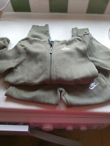 Boys Age 6-7 Years Olive Green Nike Tracksuit