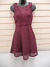 DRESS WINE SIZE SMALL 10 ( MORE LIKE A SIZE 8 ) AX PARIS  TEXTURED  PARTY BNWT