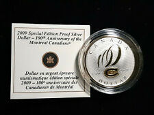 2009 CANADIAN $1 MONTREAL CANADIENS 100TH ANNIV PROFF SILVER DOLLAR COIN SPECIAL