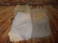 Liz Lange Clothing Lot SZ 10 & Small 3 Pieces Shorts Tan Khaki White Crop Pants