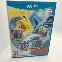 Pokken Tournament (Nintendo Wii U, 2016) Pokemon Tested CIB