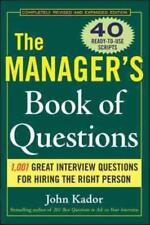 THE MANAGER'S BOOK OF QUESTIONS - KADOR, JOHN - NEW PAPERBACK BOOK