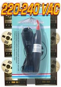 Tape Deck Recorder Head Demagnetizer Reel to Reel Cassette 220-240V EU