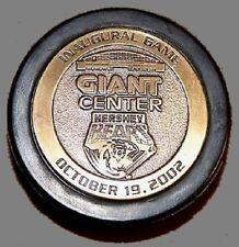 HERSHEY BEARS GIANT CENTER COMMEMORATIVE HOCKEY PUCKS 2002 Inaugural Hockey Game