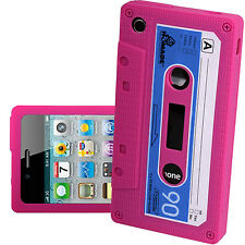IPHONE 3G/3GS 12 COLOURS CASSETTE RETRO TAPE GEL RUBBER SILICONE COVER CASE SKIN