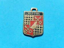 VINTAGE Wappen Anhänger Für Bettelarmband Bronze VITTEL Schlüssel