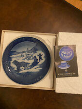 Royal Copenhagen Christmas Plate collectible with original box 1986