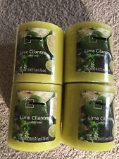 Citrus Cilantro Scented Candle 3 X 3 Inches New Sealed-case Of 4 Candles