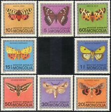 Mongolia 1974 Moths/Butterflies/Insects/Nature/Conservation 8v set (b4487)