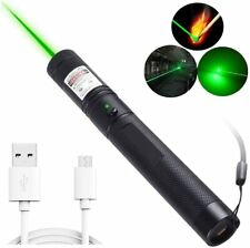 Portable Mini Green Laser Pen + USB Charging Cable Flashlight Laser Pointer