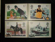 1979 MET POLICE PHQ CARDS SET x 4 (sg39a-d) USED & BUREAU FDI SHS CV £4.25