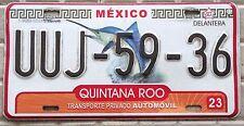 TARGA auto MESSICO Stato di QUINTANA ROO marlin blu ORIGINALE usa america pesca