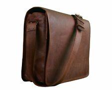 Vintage Cross-Body Genuine Leather Laptop Messenger Bag (11'inch Dark Brown)