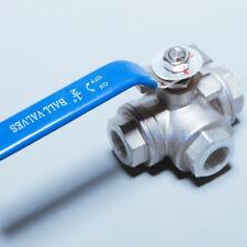 Stainless steel ball valve 3 way 1/2
