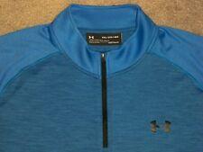 Men's NWOT UNDER ARMOUR HG Loose 1/4 Zip Pullover 2XL ROYAL BLUE w/UA Logos