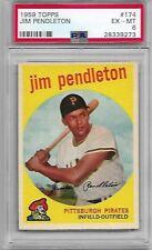 1959 Topps #174 Jim Pendleton Pirates graded PSA 6 EX