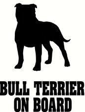 Stafordshire Bull terrier a bordo, el personal Pegatina de Coche, Gran Regalo Para Perro Amante