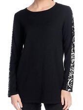 NEW NV by Nick Verreos Knit Long Sleeved Sequin Detailed Round Neck Sweater M
