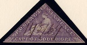 Cape of Good Hope: Scott #14, De La Rue, Used, Wmk 15, Bright Mauve, ms -1863