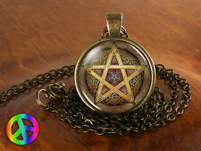 Witchcraft Pentacle 2 Wicca Pentagram Pendant Wiccan Pagan Necklace Jewelry Gift