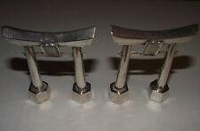 Pair/Mid-Century Sterling Silver Japanese Torii Gates Salt & Pepper Shakers