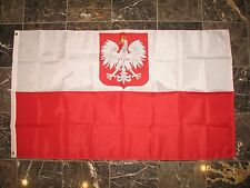 3x5 Poland Polska Eagle 210D Nylon Flag 3'x5' w/ Pin and Clips
