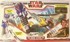 STAR WARS Play Set Tri-Droid Attack Toy Anakin Jedi Starfighter Ship Track NEW