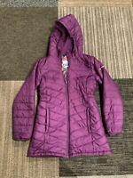 Columbia Girls Large Morning Light Purple Omni-heat Hooded Puffer Jacket