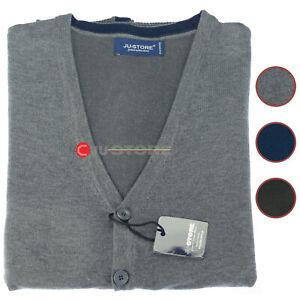 Maglia a giacca aperta gilet con bottoni cardigan smanicato TG FORTI 2XL a 6XL