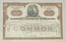 1930 CLARENCE SAUNDERS STORES, INC. Common Stock Certificate