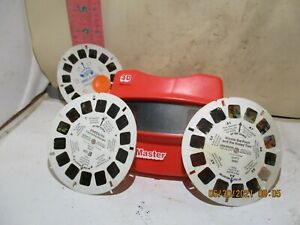 VIEWMASTER VIEWER WITH THREE MISCELLANEOUS REELS - NO DAMAGE!