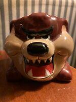 RARE Vintage 1989 TAZ Tazmanian Devil Clark Griswald Christmas Coffee Cup Mug