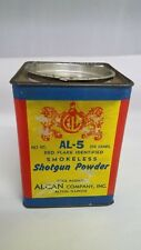 Vintage Advertising Alcan Company Inc Smokeless Shotgun Powder Tin Z-122