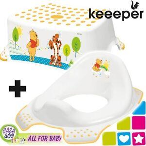 Keeper Toddler Toilet Training Seat & Step Stool Disney Winnie the pooh NEW
