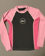 XCEL Rashguard Girl's size 12 Pink Gray EUC Great for Swimming and Sun