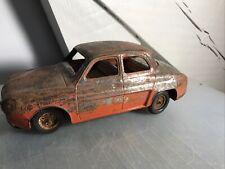 Jouet Ancien Tole Joustra Renault Dauphine (jrd Gama Mont Blanc CR)