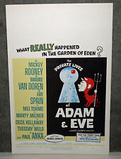 THE PRIVATE LIVES OF ADAM AND EVE orig 1960 ROLLED movie poster MAMIE VAN DOREN