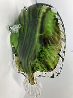 Murano Style Green Studio Art Glass Fish
