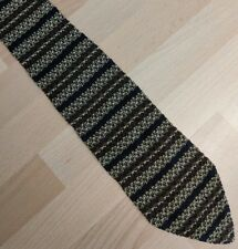 Knitted tie brown black & gold Stripes
