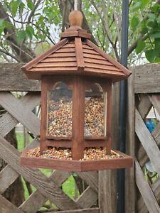 Cognac Bird Feeder hand stained & treated hanging gazebo seeder garden