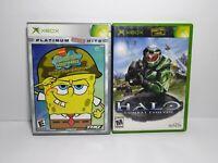 NOT WORKING SpongeBob Battle for Bikini Bottom Halo Combat Evolved Original Xbox